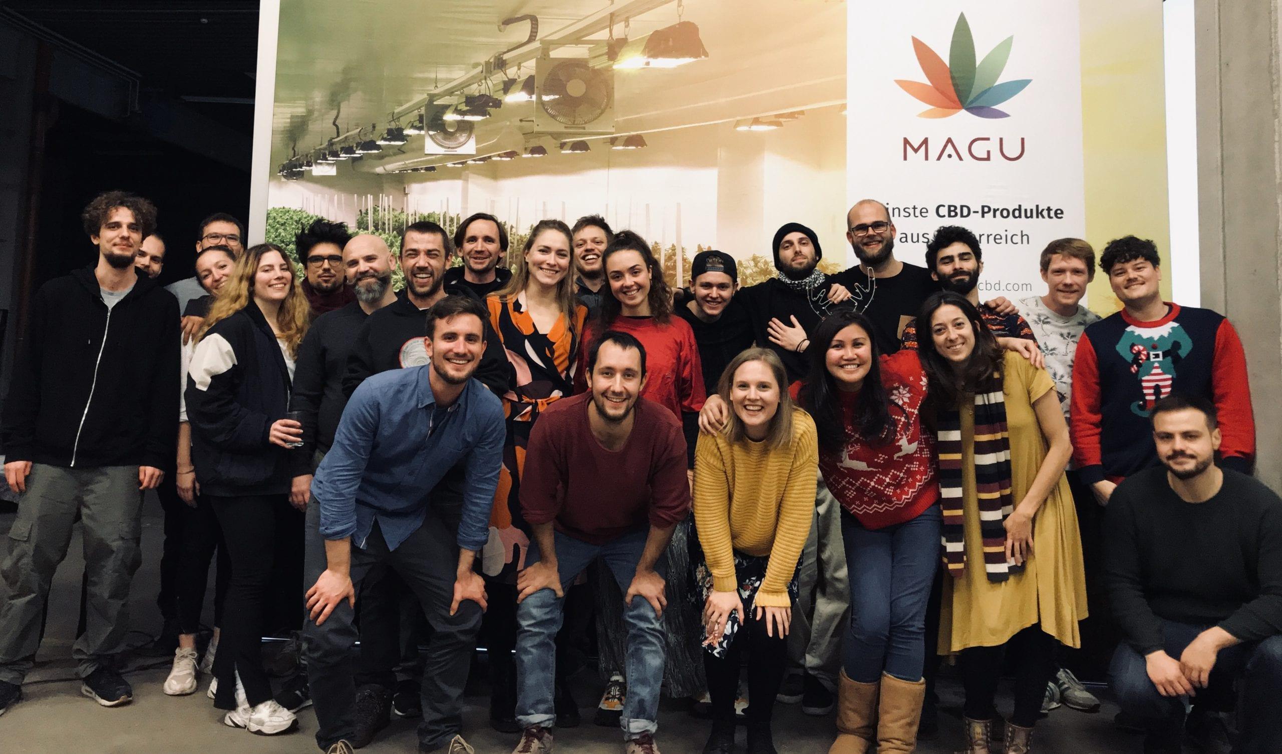 MAGU Team bei der Weihnachtsfeier
